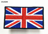 "2.5"" Tall Embroidery UK Flag Military Style Patches Iron On Backing"