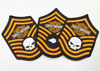Fashionable 3D Embroidery Patches Motorcycle Club Fabric Badges Patches