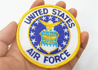 Air Force Military Style Patches Full Embroidered With Iron On Backing