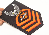 Twill Material 3D Embroidery Patches For Motorcycle Club Souvenir